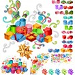 Big Collection of Gift Boxes — Stock Vector