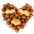 Heart made of nuts — Stock Photo #10204696