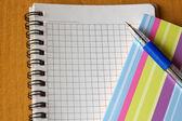 Otwórz notatnik i długopis — Zdjęcie stockowe