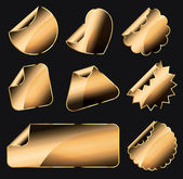 Golden stickers — Stock Vector