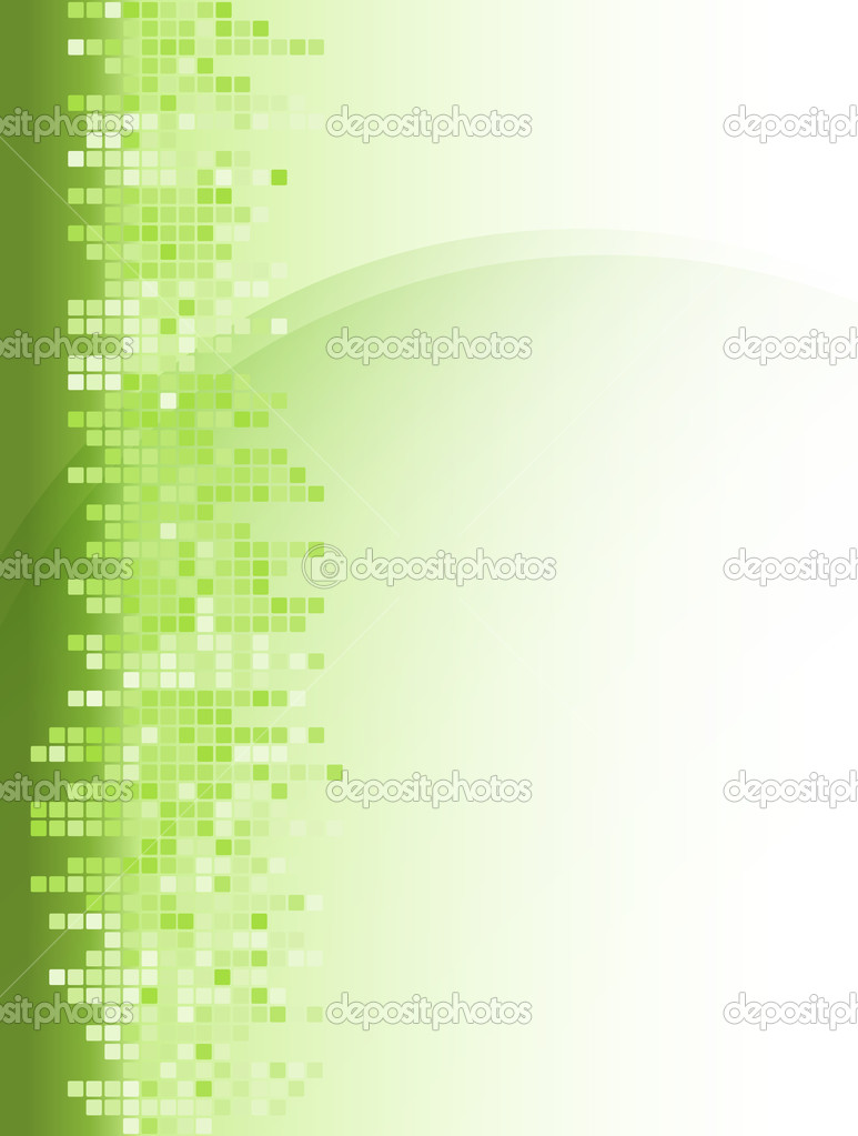 Abstract green mosaic square background  Stock Vector #8905581
