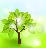 Abstrait arbre — Vecteur