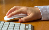 Hand working with mouse — Stock Photo