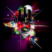 Städtische musik-vektor — Stockvektor