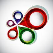 Formes géométriques colorées vector. — Vecteur
