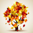Autumn tree - Stockvectorbeeld