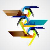 Geometryczne kompozycje. — Wektor stockowy