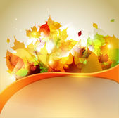Autumn yellow background — Stock Vector