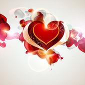 Abstraktní červená srdce. — Stock vektor