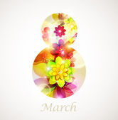 еight марта — Cтоковый вектор