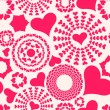 Seamless pattern. Abstract hearts — Imagen vectorial