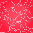 Seamless pattern. Red hearts — Imagen vectorial