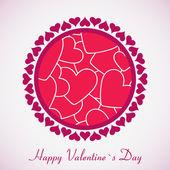 Tarjeta de regalo. Feliz día de los enamorados — Vector de stock