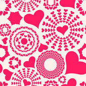 Seamless pattern. Abstract hearts — Stock Vector