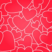 Seamless pattern. Red hearts — ストックベクタ