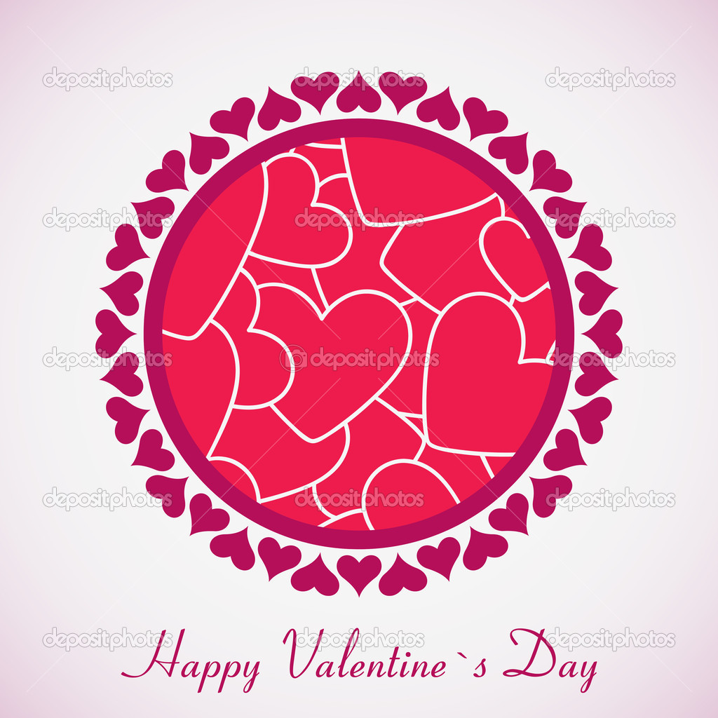 Gift card. Happy Valentine's Day — Stock Vector #8982799