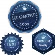 Banners from denim set - Stock Vector
