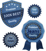 Banners från denim set — Stockvektor