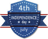 4th July Independence day banner — Vector de stock