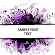 Grunge border purple - Stock Vector