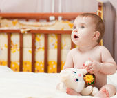 Little baby indoor — Stock Photo