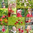 Family in garden — Stockfoto