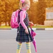 Schoolgirl outdoor — Stock Photo #10470106