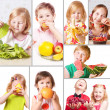 Children with fruits — Stock Photo