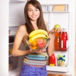 Smile girl with fruits — Stock Photo #8353279