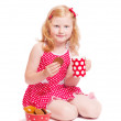 Little girl with cup — Stock Photo #8353346