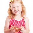 Smile girl with cup of tea — Stock Photo #8353360