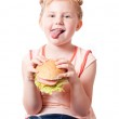 Funny girl with food — Stock Photo #8353375