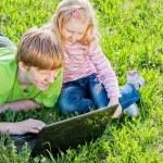 Children with laptop — Stock Photo #8367798