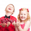 Children with grapes — Stock Photo #8367866