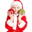 Little girl with christmas ball — Stock Photo