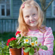 Girl with flowers — Stock Photo #8368523