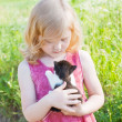 Little girl with cat — Stock Photo #8368659