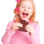Smile girl with chocolate — Stock Photo #8369565