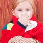 Little girl with handkerchief — Stock Photo #8369606