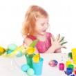 Girl with easter egg — Stock Photo