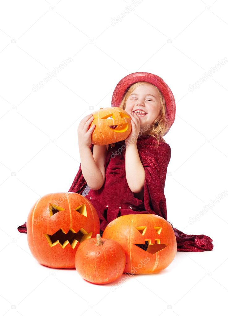 The girl in a suit of a witch  Stock Photo #8368608