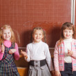 Smile girls in classroom — Stock Photo