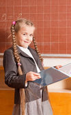 Smile girl in classroom — Foto de Stock