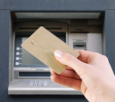 Withdraw money from the credit card — Stock Photo