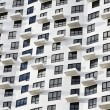 Windows and balconies of houses — Stock Photo