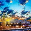 Moscow Kremlin in the early morning at dawn. Russia - Stock Photo