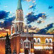 Nikolskaya tower of Moscow Kremlin — Stock Photo #8703528