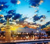 Moscow Kremlin in the early morning at dawn. Russia — Stock Photo