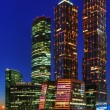 Night skyscrapers of Moscow — Stock Photo