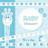 Tarjeta de bebé niño anuncio. — Vector de stock